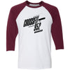 CrossFit 952 - 100 - 2020 Open One Color - Bella + Canvas - Men's Three-Quarter Sleeve Baseball T-Shirt