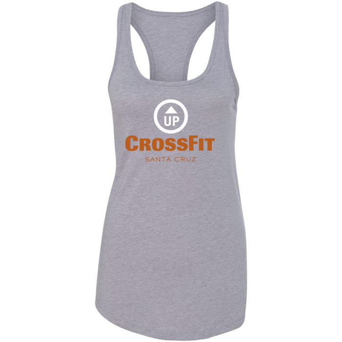 CrossFit Up - 100 - Stacked Santa Cruz - Next Level - Women's Ideal Racerback Tank