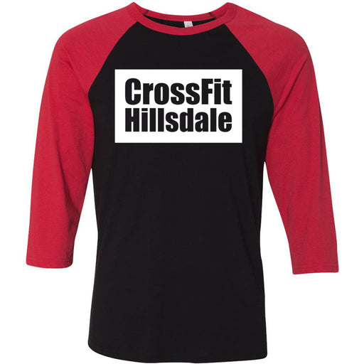 CrossFit Hillsdale - 100 - Standard - Bella + Canvas - Men's Three-Quarter Sleeve Baseball T-Shirt