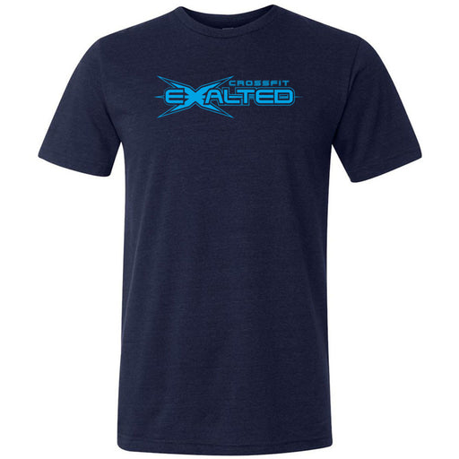 CrossFit Exalted - 100 - Blue - Bella + Canvas - Men's Triblend Short Sleeve Tee