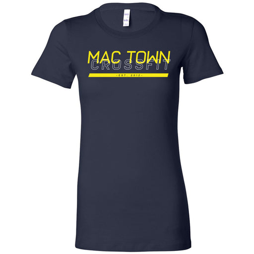 Mac Town CrossFit - 100 - Black and Yellow - Bella + Canvas - Women's The Favorite Tee