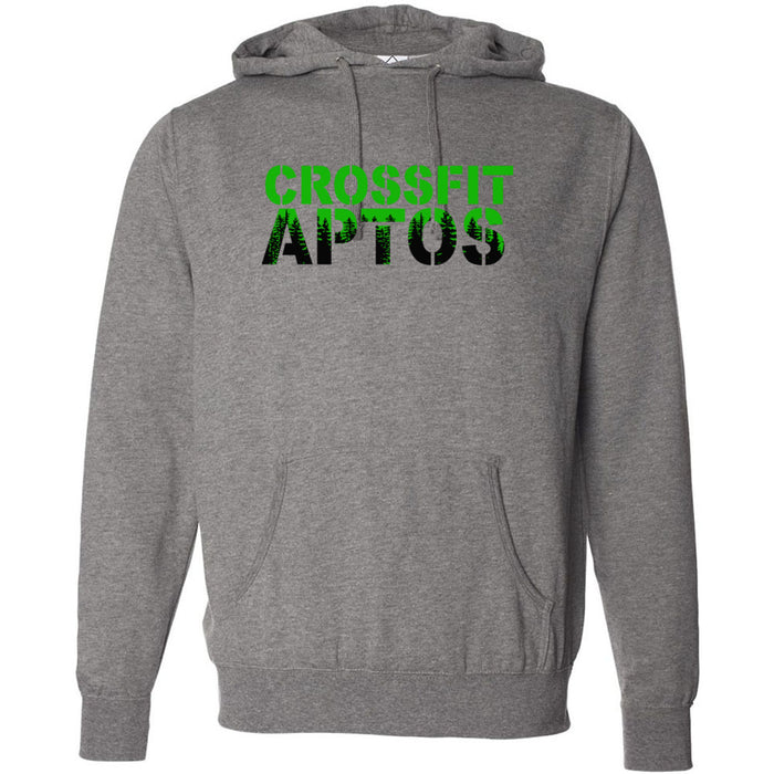 CrossFit Aptos - 100 - Standard Green - Independent - Hooded Pullover Sweatshirt