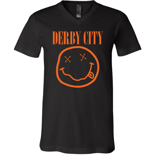 Derby City CrossFit - 200 - Nirvana Orange - Bella + Canvas - Men's Short Sleeve V-Neck Jersey Tee