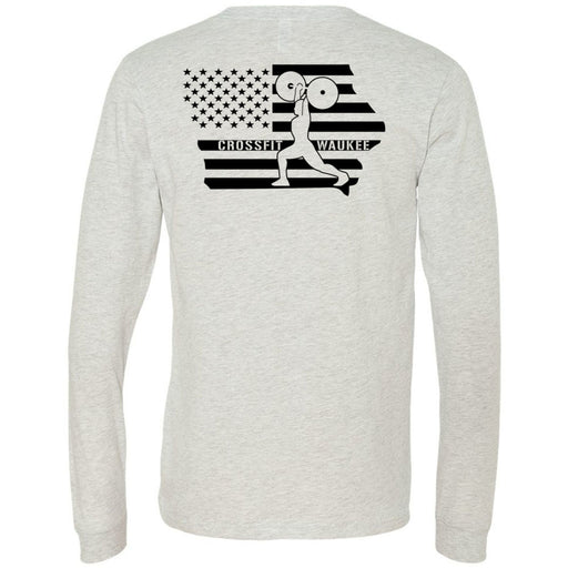 CrossFit Waukee - 202 - CFW Lifter - Bella + Canvas 3501 - Men's Long Sleeve Jersey Tee