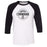 CrossFit L'Engrenage - 100 - Standard - Bella + Canvas - Men's Three-Quarter Sleeve Baseball T-Shirt