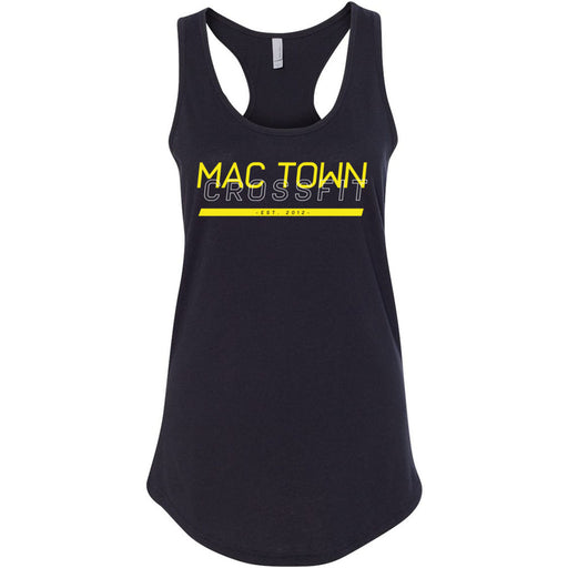 Mac Town CrossFit - 100 - Black and Yellow - Next Level - Women's Ideal Racerback Tank