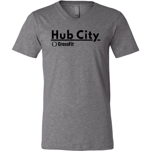 Hub City CrossFit - 200 - Support Your Box - Bella + Canvas - Men's Short Sleeve V-Neck Jersey Tee