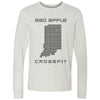 Mad Apple CrossFit - 100 - Indiana - Bella + Canvas 3501 - Men's Long Sleeve Jersey Tee