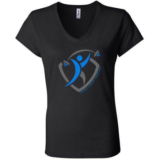 CrossFit Constant Conditioning - 100 - Design 1 - Bella + Canvas - Women's Short Sleeve Jersey V-Neck Tee