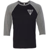 CrossFit Medicus One - 202 - Standard - Bella + Canvas - Men's Three-Quarter Sleeve Baseball T-Shirt