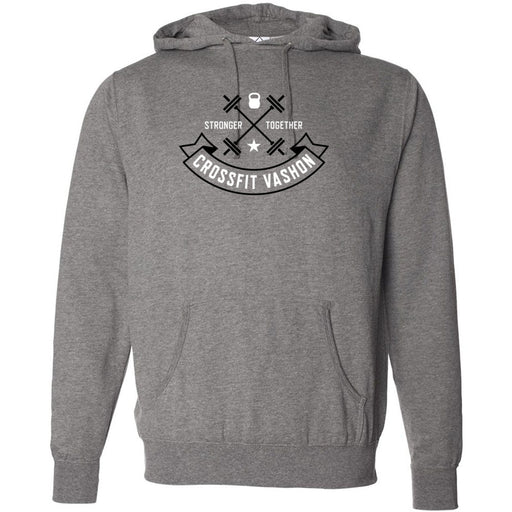 CrossFit Vashon - 100 - Black and White - Independent - Hooded Pullover Sweatshirt