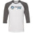 CrossFit 646 - 100 - Barbell - Bella + Canvas - Men's Three-Quarter Sleeve Baseball T-Shirt