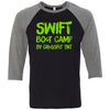 CrossFit TNT - 100 - Swift Green - Bella + Canvas - Men's Three-Quarter Sleeve Baseball T-Shirt
