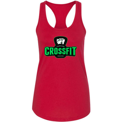 Carriage House CrossFit - 100 - Green - Next Level - Women's Ideal Racerback Tank