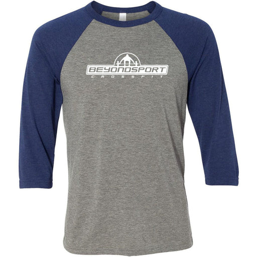 CrossFit Beyond Sport - 100 - One Color - Bella + Canvas - Men's Three-Quarter Sleeve Baseball T-Shirt