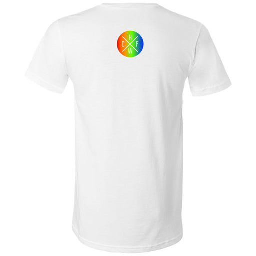 CrossFit Hollywood - 200 - Rainbow - Bella + Canvas - Men's Short Sleeve V-Neck Jersey Tee