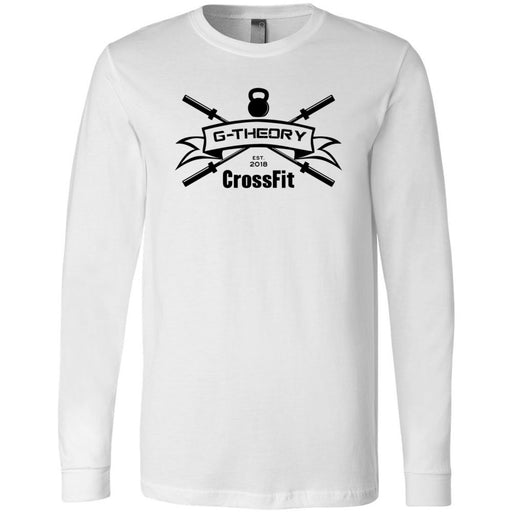 G-Theory CrossFit - 100 - One Color - Bella + Canvas 3501 - Men's Long Sleeve Jersey Tee