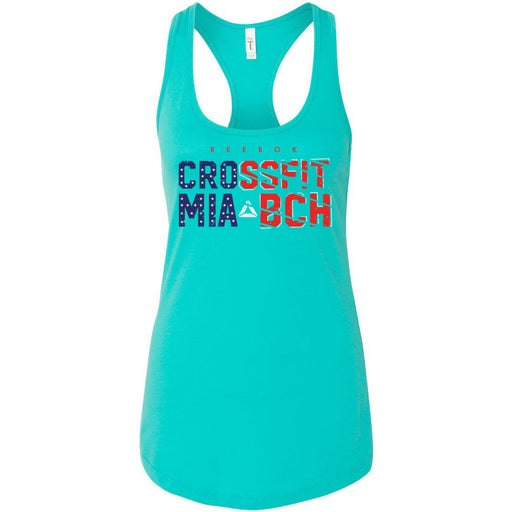 Reebok CrossFit Miami Beach - 100 - Flag - Next Level - Women's Ideal Racerback Tank