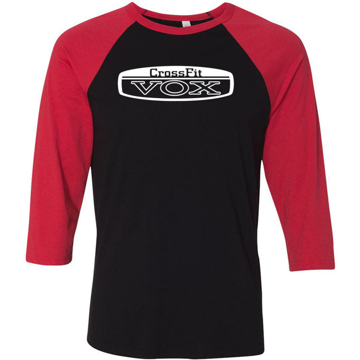 CrossFit Vox - 100 - Standard - Bella + Canvas - Men's Three-Quarter Sleeve Baseball T-Shirt