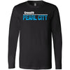 CrossFit Oahu - 202 - Pearl City Blue - Bella + Canvas 3501 - Men's Long Sleeve Jersey Tee