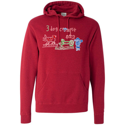 3 Dog CrossFit - Standard - Independent - Hooded Pullover Sweatshirt