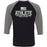 CrossFit Oahu - 202 - Fittest White Green - Bella + Canvas - Men's Three-Quarter Sleeve Baseball T-Shirt