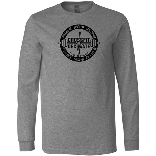 CrossFit Decimate - 100 - Standard - Bella + Canvas 3501 - Men's Long Sleeve Jersey Tee