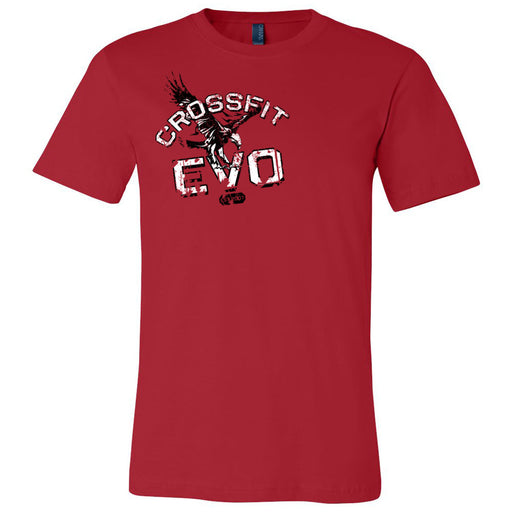 CrossFit Evolution - 100 - Grunge - Bella + Canvas - Men's Short Sleeve Jersey Tee