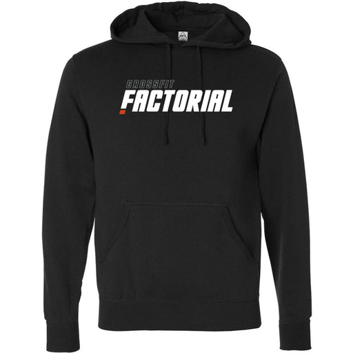 CrossFit Factorial - 100 - White - Independent - Hooded Pullover Sweatshirt