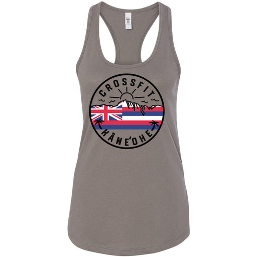 CrossFit Kaneohe - 100 - Flag - Next Level - Women's Ideal Racerback Tank