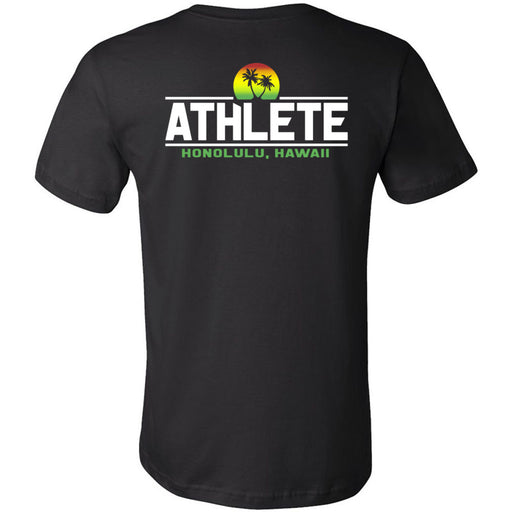 CrossFit Oahu - 200 - Sunrise Rasta - Bella + Canvas - Men's Short Sleeve Jersey Tee