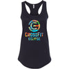 CrossFit Eclipse - 100 - Tropical - Next Level - Women's Ideal Racerback Tank