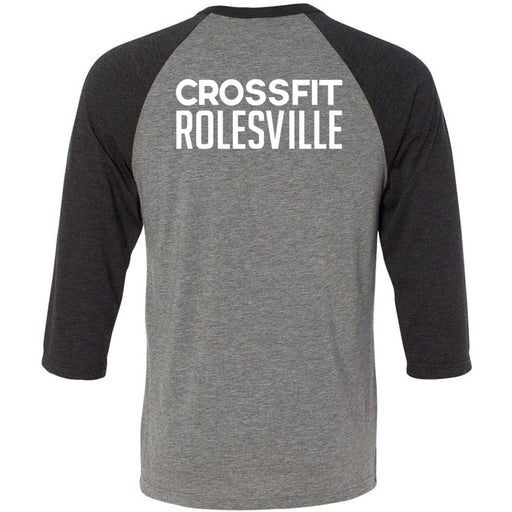 CrossFit Rolesville - 202 - State - Bella + Canvas - Men's Three-Quarter Sleeve Baseball T-Shirt