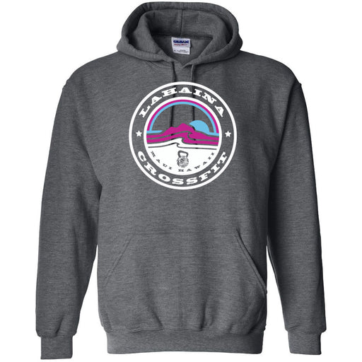 Lahaina CrossFit - 100 - Miami Sunrise White - Gildan - Heavy Blend Hooded Sweatshirt