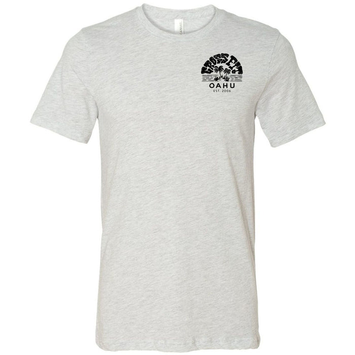 CrossFit Oahu - 200 - Vintage Island Black - Bella + Canvas - Men's Short Sleeve Jersey Tee
