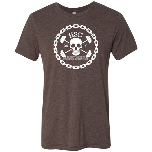 CrossFit HSC - 100 - Skull - Bella + Canvas - Men's Triblend Short Sleeve Tee