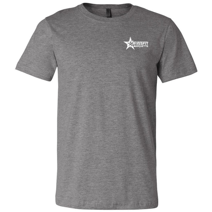 CrossFit Marquette - 200 - Pocket Size - Bella + Canvas - Men's Short Sleeve Jersey Tee