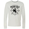 CrossFit BrownNGold - 100 - Standard - Bella + Canvas 3501 - Men's Long Sleeve Jersey Tee