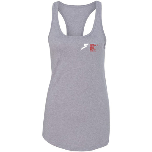 CrossFit Free State - 100 - Pocket - Next Level - Women's Ideal Racerback Tank