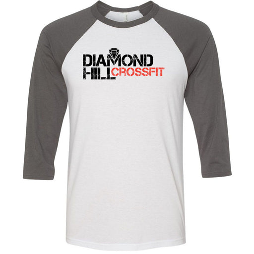 Diamond Hill CrossFit - 100 - Standard - Bella + Canvas - Men's Three-Quarter Sleeve Baseball T-Shirt