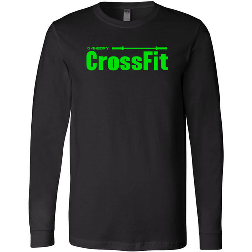 G-Theory CrossFit - 100 - Stacked Green - Bella + Canvas 3501 - Men's Long Sleeve Jersey Tee