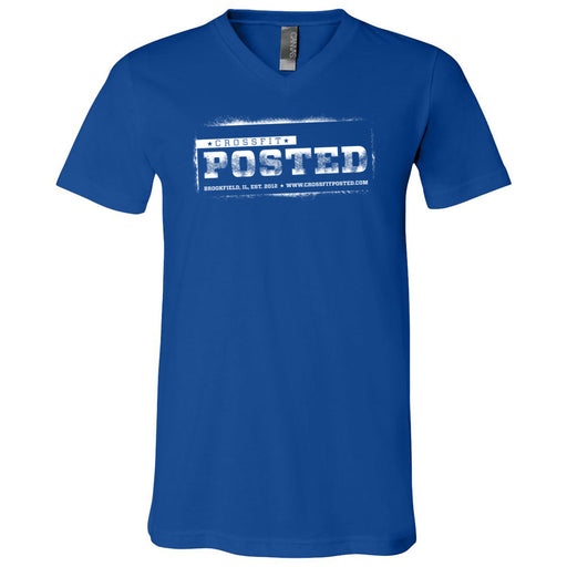 CrossFit Posted - 100 - Standard - Bella + Canvas - Men's Short Sleeve V-Neck Jersey Tee
