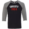 CrossFit Inua - 100 - Standard - Bella + Canvas - Men's Three-Quarter Sleeve Baseball T-Shirt
