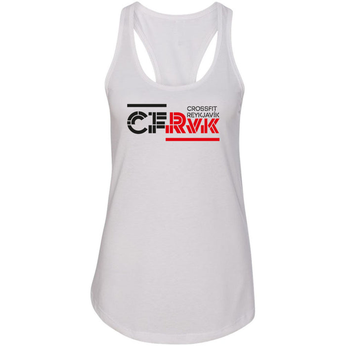 CrossFit Reykjavík - 100 - Stacked - Next Level - Women's Ideal Racerback Tank