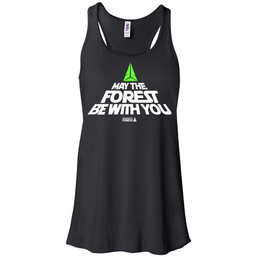 CrossFit Forest - 100 - May the Forest Be With You - Bella + Canvas - Women's Flowy Racerback Tank