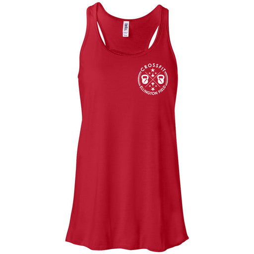 CrossFit Ellington Field - 100 - Pocket - Bella + Canvas - Women's Flowy Racerback Tank