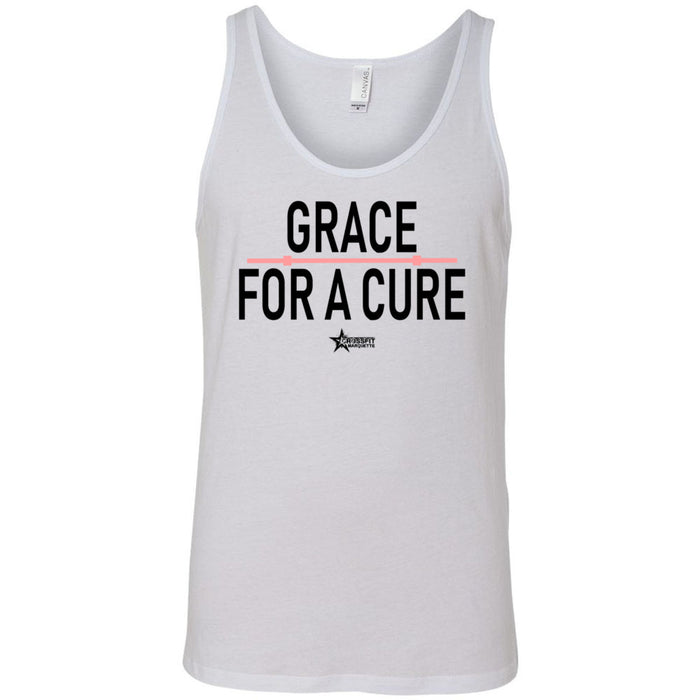 CrossFit Marquette - 100 - Grace For A Cure Barbell - Bella + Canvas - Men's Jersey Tank