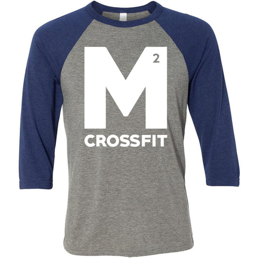 CrossFit M2 - 100 - M2 - Bella + Canvas - Men's Three-Quarter Sleeve Baseball T-Shirt