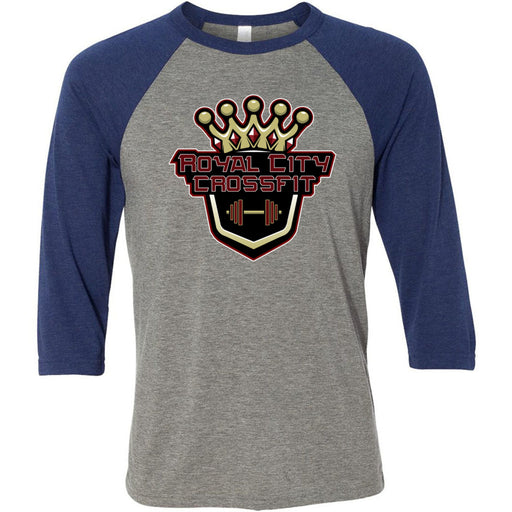 Royal City CrossFit - 100 - Standard - Bella + Canvas - Men's Three-Quarter Sleeve Baseball T-Shirt