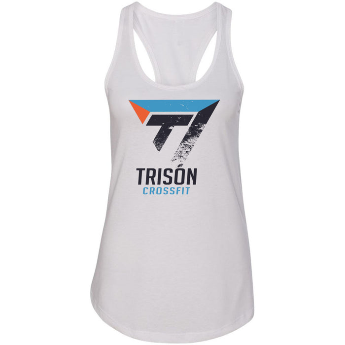 Trison CrossFit - 100 - Distressed - Next Level - Women's Ideal Racerback Tank